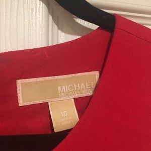 Michael Kors Red Mini Dress, size 10. Worm once!